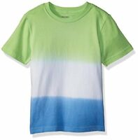 Gymboree Toddler Boys' Short Sleeve Crewneck Dip Dye Tee, Green/Blue Dip Dye, 4T