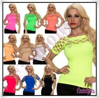 Women's Fishnet Top Summer Casual Everyday Ladies Blouse One Size 6,8,10,12 UK