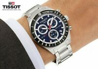 TISSOT T0444172104100 Blue Dial PRS 516 Stainless Steel Chronograph Men's Watch