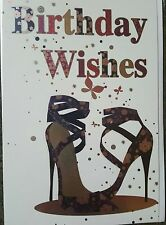 BIRTHDAY WISHES - GENERAL FEMALE BIRTHDAY CARD (shoes)