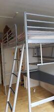 Ikea Hochbett 2,00m x 1,40m, mit Schreibtisch und Bücherablage incl. Matratze