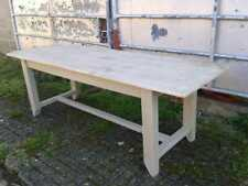 "Large 7ft 6"" Country Painted Pine Kitchen Dining Table"
