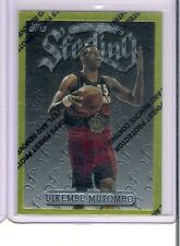 Rare 1997 Topps Finest Dikembe Mutombo Gold Sterling Insert Card  # 274