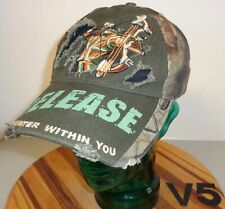 "BUCK WEAR ""RELEASE THE HUNTER WITHIN YOU"" HAT CAMO DISTRESSED VGC V5"