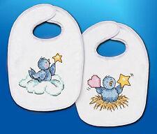 Cross Stitch Kit ~ Tobin Balloon Ride Baby Bib Set (2 Bibs) #T21768