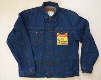 Mens Wrangler Cowboy Cut Unlined Denim Jacket - Inside Pockets - 74145PW