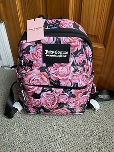 Juicy Couture Womens On The Right Track In Bloom  Backpack Medium NWT