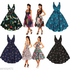 Rockabilly Machine Washable Sleeveless Dresses for Women