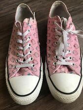 Converse Size 11.5 Hello Kitty Pink White Sneakers Mens Shoes Rare Low Top
