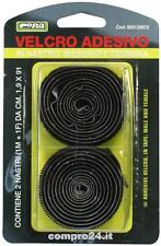 Velcro adesivo in nastro 2 nastri (maschio+femmina) da 1,9x91 cm.