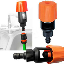 Universal Tap To Garden Hose Pipe Connector Mixer Kitchen Tap Adapter Orange NEW