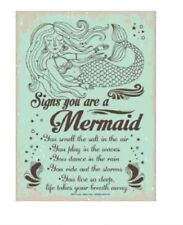 Signs You Are A Mermaid Novelty Tin Sign Funny
