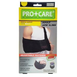 Pro+Care Adult Arm Sling Unisex Once Size Adjustable Fastener ProCare GS-1090