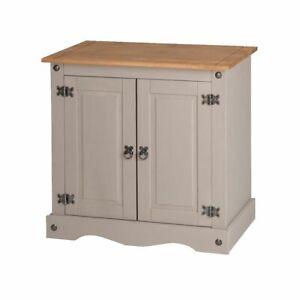 Corona Grey Wax 2 Door Small Sideboard - Mexican Solid Pine