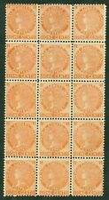 SG 34 Prince Edward Islands 1872. 1 cent, orange block of 15. Pristine U/M/M...