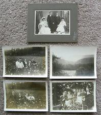 SET OF 10 PHOTOS - FAMILIES/COUPLES VINTAGE PORTRAITS + SNAP SHOTS
