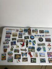 HUGE Lot 54 Collectible Travel Souvenir Refrigerator Magnets USA Mexico