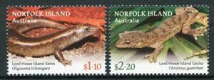 Norfolk Islands 2021 MNH Lizards Stamps Lord Howe Island Skinks & Geckos 2v Set