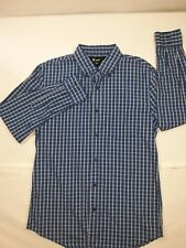 VURT Mens Size Medium Blue Plaid Long Sleeve Button-Down Shirt