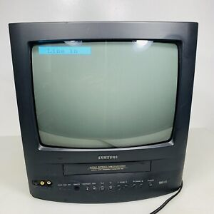 Vintage Retro Gaming TV Samsung CRT Color Television VCR CXD1342 Tested Works