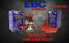 NEW EBC REDSTUFF FRONT AND REAR BRAKE PADS KIT PERFORMANCE PADS PADKIT1866