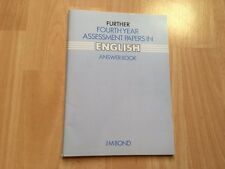 Further Fourth Year Assessment Papers in English Answer Book Paperback J M Bond