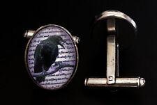 Edgar Allan Poe The Raven Pure Stainless Steel French Cufflinks Goth Victoriana