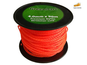 Brushcutter / Strimmer / Trimmer Nylon / Cord Line 4mm x 90m Long - Twisted 4mm