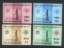 Burma STAMP 1983 ISSUED TELECOMMUNICATION COMMEMORATIVE 4V SET,MNH,  RARE