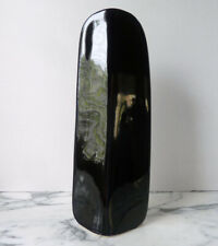 "Vintage tall black FLOWER VASE 13.5"" by NAOMI CAHANA for Mikasa Japan XLNT wow!"