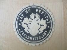 (32870) Siegelmarke - Dresden Lebensmittelamt