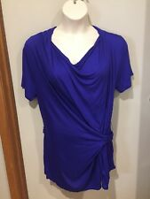 KAMIKO WOMEN'S TOP..SIZE 16..BLUE.STRETCH..unusual style.NEW WITH TAG..RRP$89.95