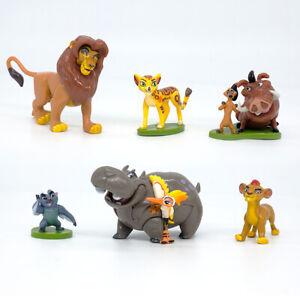6 Pcs The Lion King Simba Nala Timon Pumbaa PVC Figures Model Statue Cake Topper