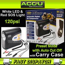 Ring RAC605 12v Plug & Battery Clamps Automatic Digital Bike Tyre Air Compressor