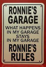 "Personalized Garage Novelty 10""X7"" Polystyrene Sign Garage Office Den Man Cave"