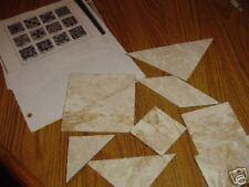 Plastic Templates & Assembly Charts 36 quilt blocks