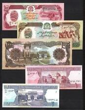 Afghanistan lot de 5 billets différents neufs UNC