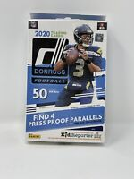 2020 DONRUSS Football Hanger Box- New Sealed- 50 cards - Herbert, Burrow, Tua RC