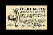 Encadrée années 1800 médecine imprimé – surdité? wilson's sens commun medical oreille tambour