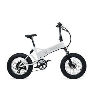 Mate X 750 Watt Foldable Electric Bike Color LED Screen E-Bike NEW-White 20+ MPH