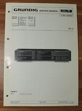 Cassette Player cf11 FineArts Grundig Service Manual Istruzioni di servizio