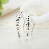 Elegant Women 925 Sterling Silver Long Earrings Ear Hook Stud Jewelry Gift NEW