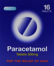 16 PARACETAMOL 500MG TABLETS PAIN RELIEF HEADACHE MIGRANE FREE DELIVERY