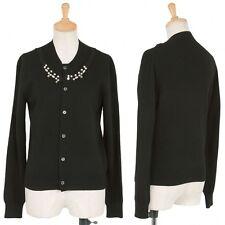 (SALE) COMME des GARCONS Pearl decoration cardigan Size SS(K-17540)
