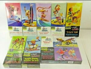 Lot of 9 Hawk Classics Silly Surfers & Frantics Retro Style Hobby Model Kits