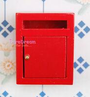 Dollhouse Miniature Furniture Red Wooden Mailbox  OA021B