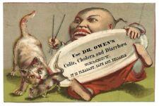 "OWEN'S REMEDY (1885) ""UNION PACIFIC RAILROAD CHINATOWN"" Card ANAMOSA, IOWA Train"