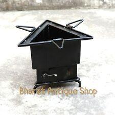 Iron wood Coal Tri burning Kitchen use stove Sigri Fire pit Portable India
