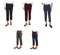 NEW Mario Serrani Women's Comfort Stretch Slim Fit Pants w Tummy Control