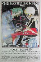 HORST JANSSEN - Schloss Arolsen (1993). Plakat / Offset handsigniert.